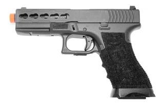 Pistola Airsoft Gas Gbb Glock G17 Custom Blowback 6.0 + Case