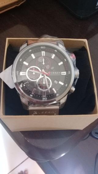 Relógio Curren 8291 Men Quartz Luxo Impermeável 100% Funcional, Prova D Agua Lacrado Na Caixa