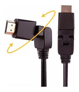 Cable Hdmi 3 Metros Pin 360º 3d 4k 1.4 Full Hd Tv Smart