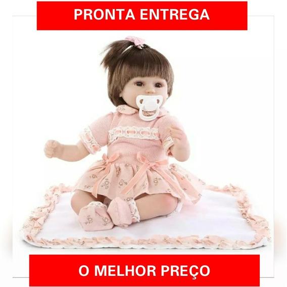 Bebê Reborn Menina Importado Pronta Entrega+brinde Especial