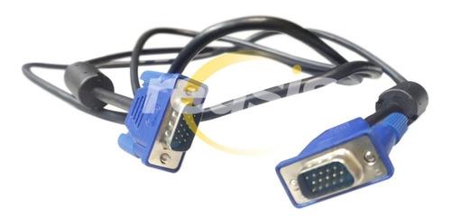 Imagen 1 de 2 de Cable Vga De 1.5 Metros Con Doble Filtro Monitor Pc