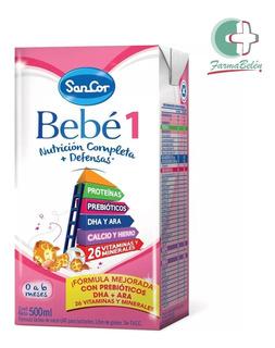 Leche Sancor Bebe 1 (0 A 6m) Pack 12 Bricks De 500ml