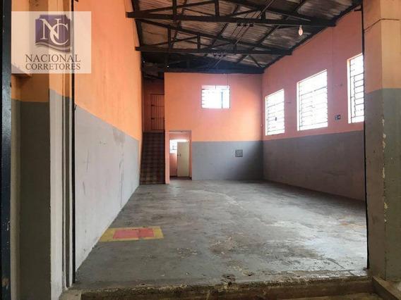 Galpão Para Alugar, 300 M² Por R$ 3.200,00/mês - Vila Conceição - Diadema/sp - Ga0603