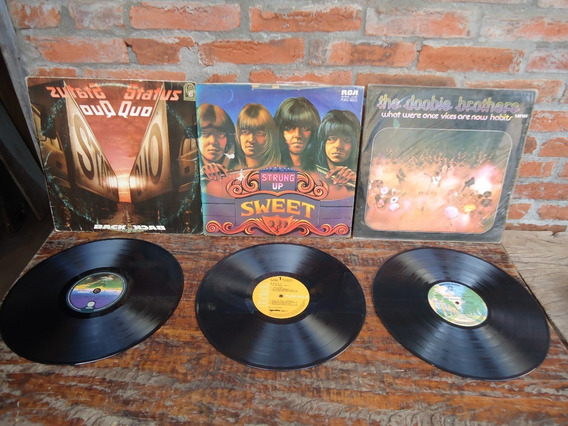 Lote 3 Lp Rock Strung Up Status Quo The Doobie Brothers