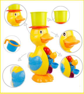 | Juguete Para Baño De Bebe Pato Rueda Agua