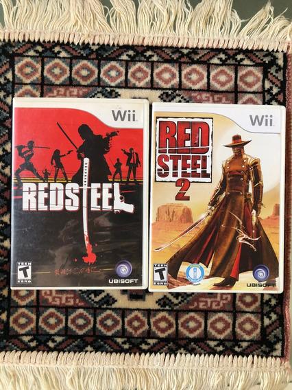 Red Steel 1 E 2 P/ Wii E Wiiu - Original E Americano