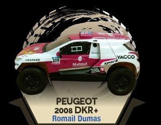 Peugeot 2008 Dkr+ 1/43 Dakar