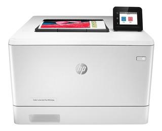 Impresora a color HP LaserJet Pro M454DW con wifi 220V blanca