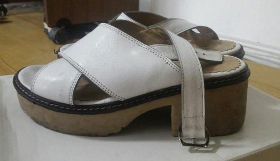 2 Pares De Sandalias Zapatos Plateadas-blancas