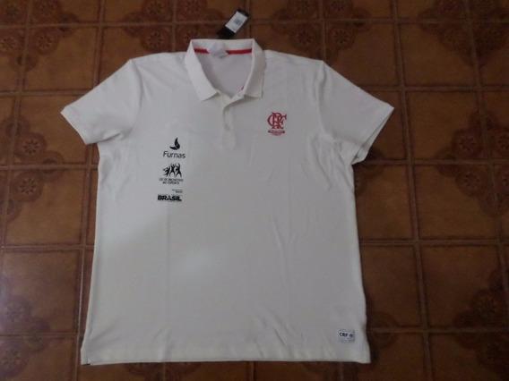 Camisa Flamengo Polo Branca Tamanho 2xl