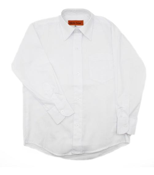 Camisa Vestir Niño Infantil Blanca Manga Larga Oferta