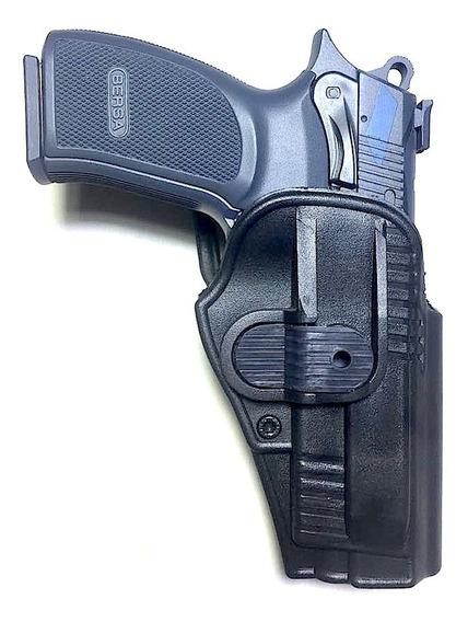 Funda Pistolera Polimero Nivel 2 Para Bersa Pro 9-thunder 9