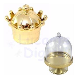 Kit 30 Coroa Dourada - 30 Mini Cúpula Dourada * Lembrancinha