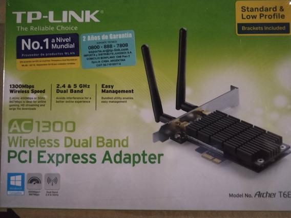 Placa Red Wifi Marca Tplink Ac1300 Wireless Dual Band Pci Ex