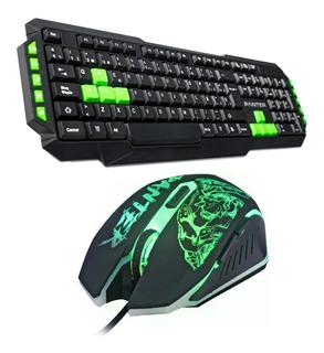 Combo Gamer Panter Teclado Mouse Retroiluminado 6 Botones