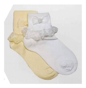 Set 4 Calcetas Con Olanes Para Niña Bebe A 9 Años Alondra
