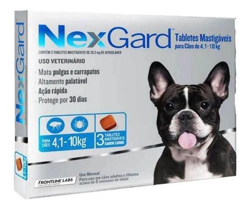 Nexgard M C/ 3und  Para Caes De 4,1 A 10kg