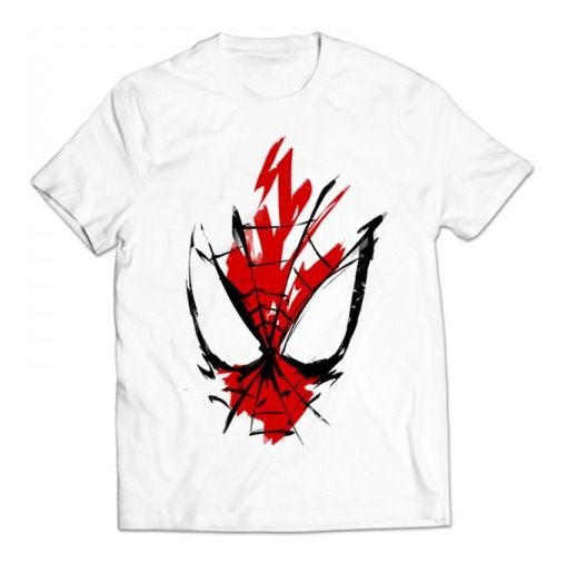 Envio Gratis Spiderman Cara Logo Unisex Todas Tallas Red