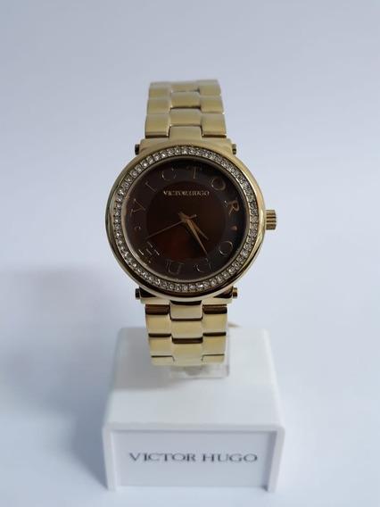 Relógio Victor Hugo Vh10076 + Garantia De 1 Ano + Nf