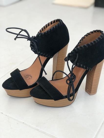 Zapato Dama Tacón Alto Negro Talla 23.5cm