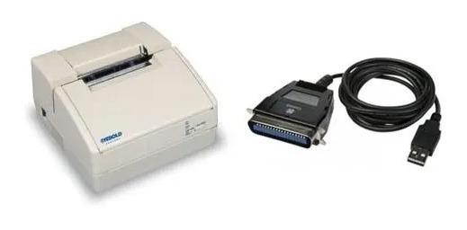 Impressora Matricial Diebold Mecaf Paralela + Cabo Usb Usada