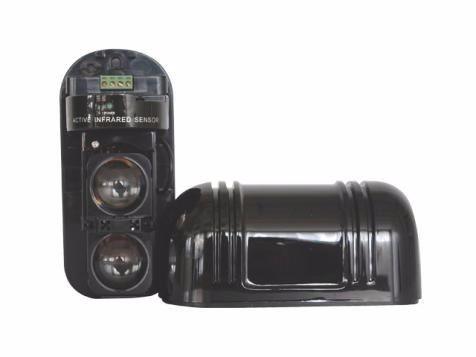 2pç Sensor Barreira Alarme Infra Ativo Iva 2 Feixes 100 Mts