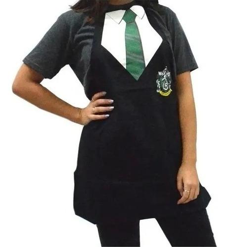 Delantal Harry Potter-producto Oficial- Hufflepuff/slytherin