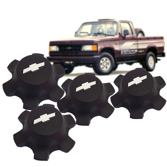 Jogo 4 Calota Central Roda 6 Fur Chevrolet D20 1985 A 1996