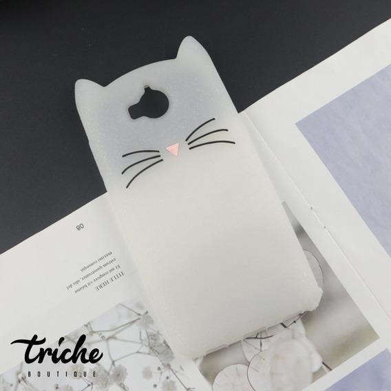 Funda Botarga Diseño Gato Bigotes Colores Huawei Y5 Pro