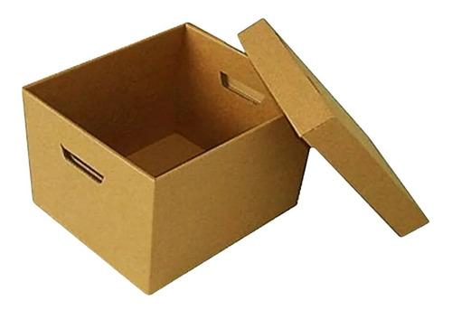 Caja De Cartón X300 Para Manejo Archivos Con Tapa X 6 Unds