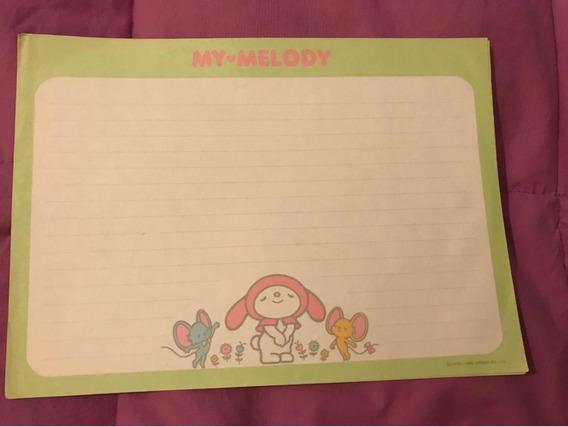 Papel De Carta My Melody Sanrio Coleccionable Años 1985