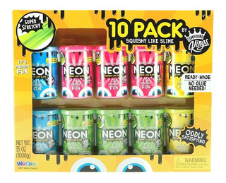 Slime Compound Kings 10 Pack Neon Squishy Like Slime Ready