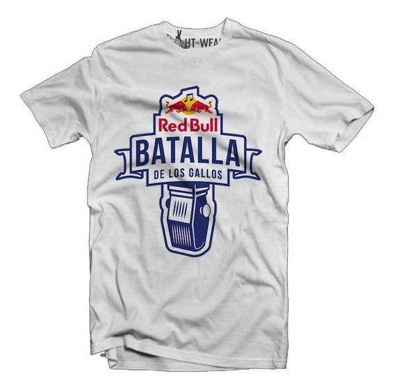 Playera Batalla De Gallos Red Bull Blanca Slim Fit