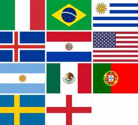 11 Bandeiras Países 0,40 X 0,60 Metros