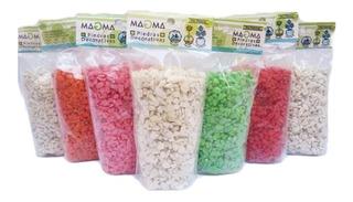 Piedras Decorativas De Colores 500g Magma Acuario Floreria