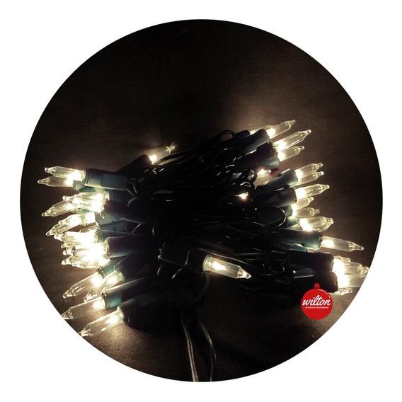 Luces Navidad Titilantes Blancas Cálidas X 50 - Wilton