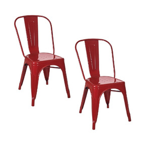 Kit 2 Cadeiras Tolix Vermelha