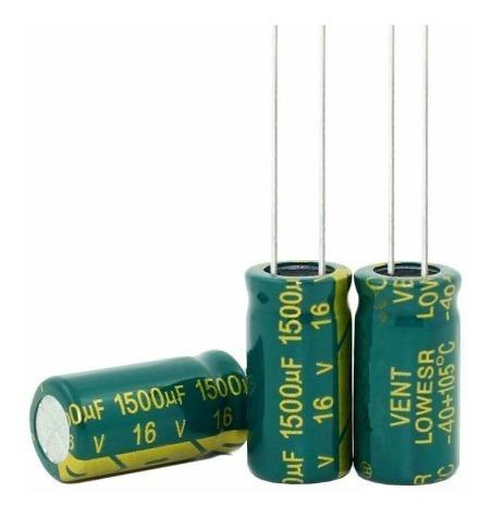 20 Capacitor Eletrolítico 1500uf 16v