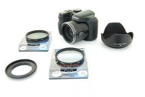 Kit Fuji S2950 S2900 Anel Adaptador + Uv + Cpl + Parasol