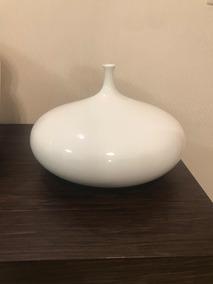 Vaso Branco Decorativo De Cerâmica
