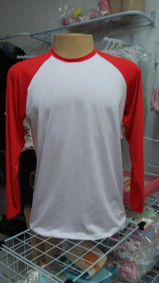 Camisa Raglan Lisa Manga Longa Com Proteção Uv Fator +50