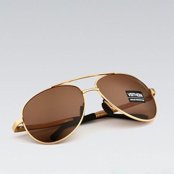 Óculos De Sol Polarizado Aviador Unissex Uv400 - Proteção
