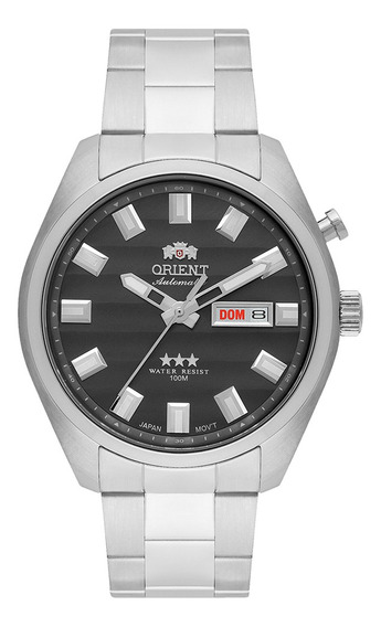 Relógio Orient Masculino Automático Aço Retrô 469ss076g1sx