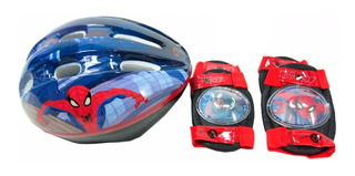 Set Casco + Protector Spiderman Int 501300 Original Unibike
