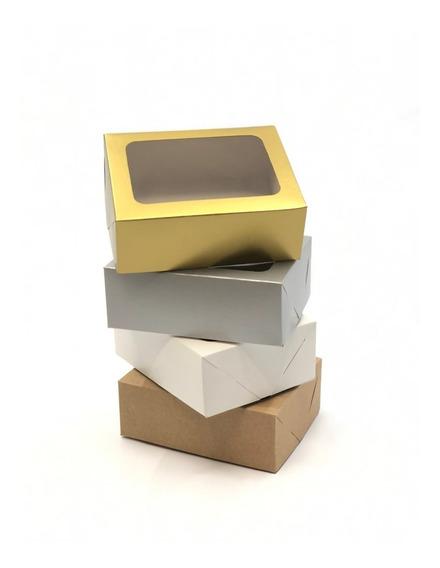 20 Caixas De Presente 14x11x5cm: Com Visor / Tampa E Fundo