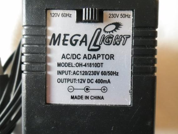 Fonte Mega Light Oh-41810dt Bivolt Saida 12v Dc 400ma Novo