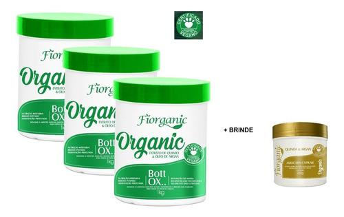 3 Und Bott Ox 1kg Extrato De Quiabo & Argan - Fiorganic