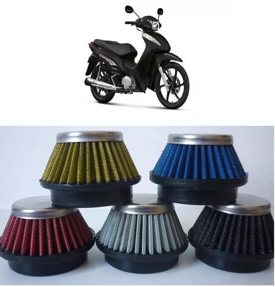 Filtro Ar Esportivo Moto Biz 125 Ww043 43mm Várias Cores