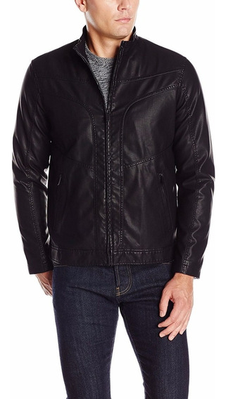 Exclusiva Chamarra Faux Leather Perry Ellis Xl Xxl