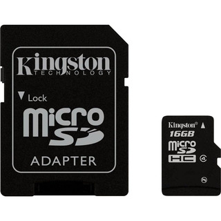 Cartao De Memoria 16gb Sd C/ 1 Adaptador Kingston